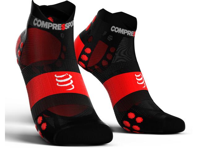 Compressport Pro Racing V3.0 UItralight Run Low Socks black/red